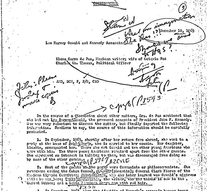 NARA Record Number: 104-10404-10325 MEMORANDUM: SUBJECT - LEE HARVEY OSWALD AND KENNEDY ASSASSINATION
